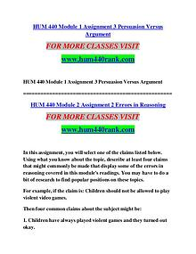 HUM 440 STUDY  Invent Yourself/hum440study.com