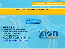 Global Amines Market Will Flourish by 2016 – 2024