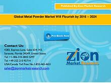 Global Metal Powder Market Will Flourish by 2016 – 2024