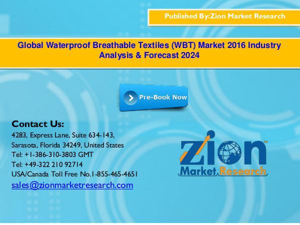 Zion Market Research Global Waterproof Breathable Textiles (WBT) Market
