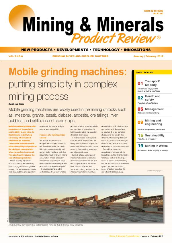 Mining & Minerals Product Review Jan/Feb 2017