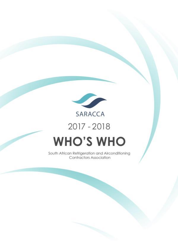 SARACCA Directory 2017-2018 SARACCA Who's Who 2017-2018