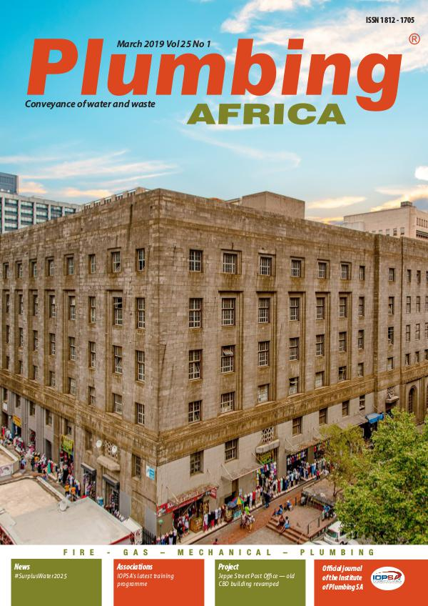 Plumbing Africa March 2019