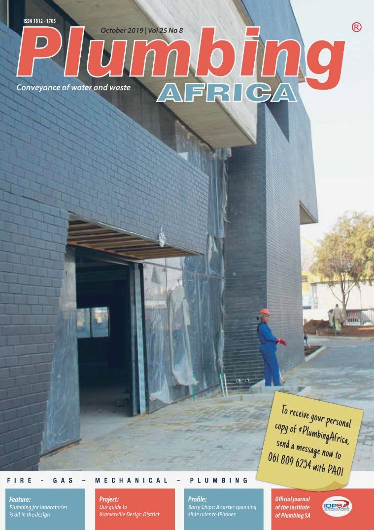 Plumbing Africa October 2019