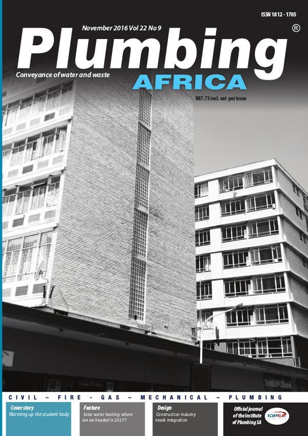 Plumbing Africa November 2016
