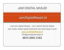 Jam Digital Masjid - Jual Jam Jadwal Sholat Digital Otomatis Harga Mu