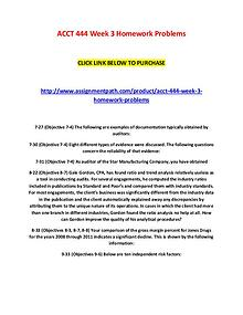 ACCT 444 Week 3 Homework Problems