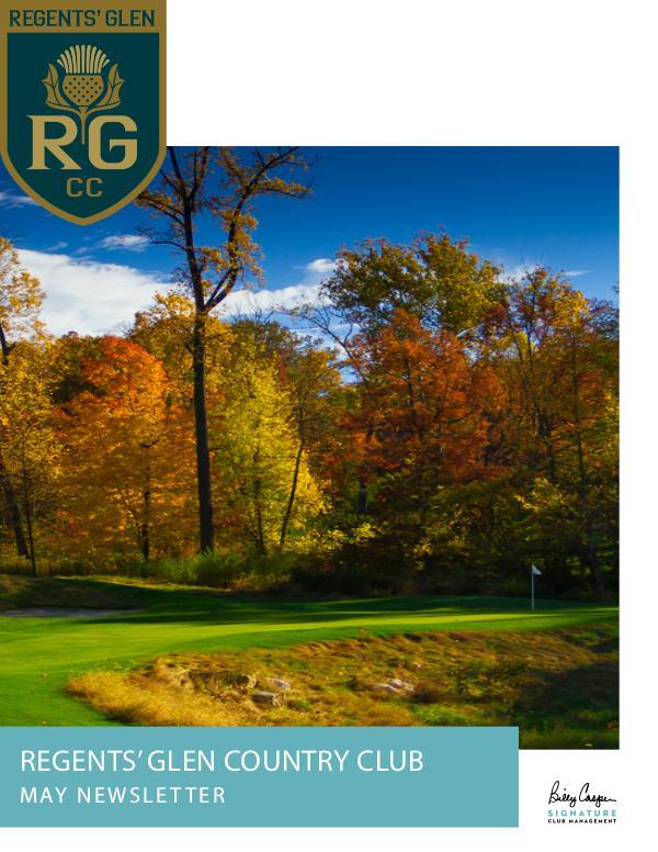 Regents' Glen Monthly Newsletter RG Monthly Newsletter MAY