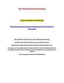 CJA 373 Innocence Commission