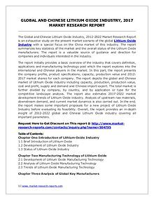 Lithium Oxide Market Trends and 2022 Forecasts for Manufacturers