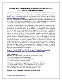 Global Alumina Ceramics Industry Analyzed in New Market Report