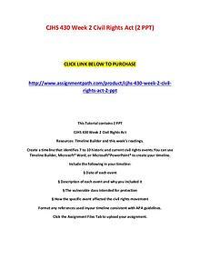 CJHS 430 Week 2 Civil Rights Act (2 PPT)