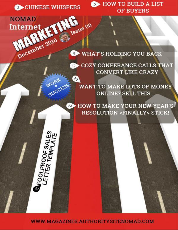 Nomad Internet Marketing December 2016 Issue 00 issue 00