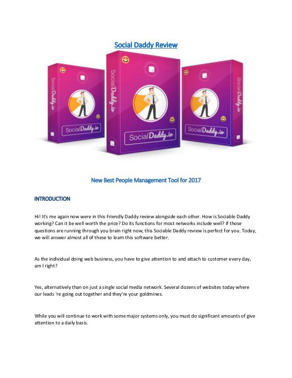 Social Daddy Review - New Best Social Management Tool for 2017 New Best Social Management Tool for 2017