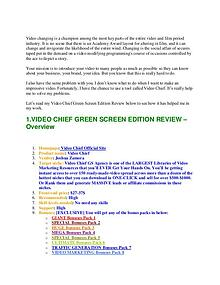 VIDEO CHIEF GREEN SCREEN REVIEW | William Review | Joomag