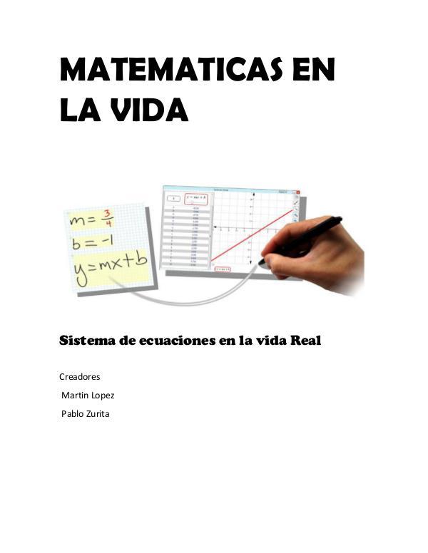 Matemáticas en Vida Sistemas de Ecuaciones