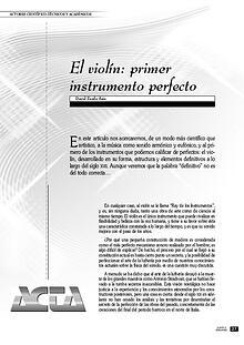 Violín, el instrumento perfecto.