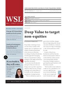 Wall Street Letter Volume XLV Issue 24