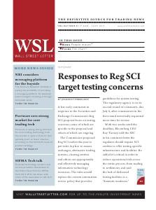 Wall Street Letter Volume XLV Issue 21