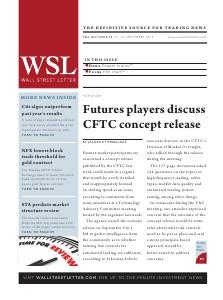 Wall Street Letter VOL. XLV, NO. 29 - Sept. 16, 2013