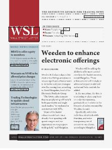 Wall Street Letter VOL. XLV, No. 31 – Sept. 30, 2013