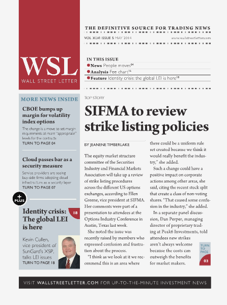 Wall Street Letter VOL. XLVI, NO. 5 - May 2014