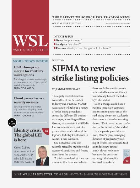 Wall Street Letter VOL. XLVI, NO. 5 - May 2014