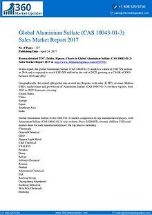 Report-Aluminium Sulfate (CAS 10043-01-3) Market Size, Growth Drivers