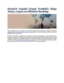 Premier Capital Group Portfolio Mngt Tokyo, Japan