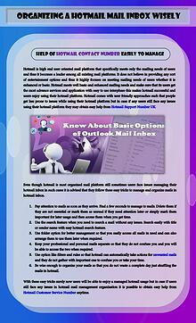 How to organize a hotmail mail inbox wisely?
