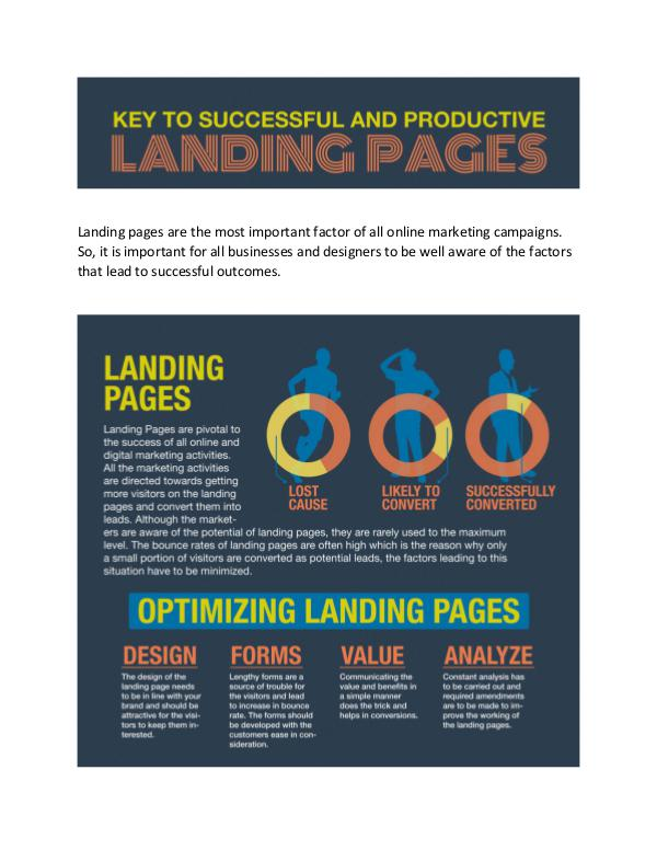 Key to successful and productive landing page How to make your Landing Pages effective