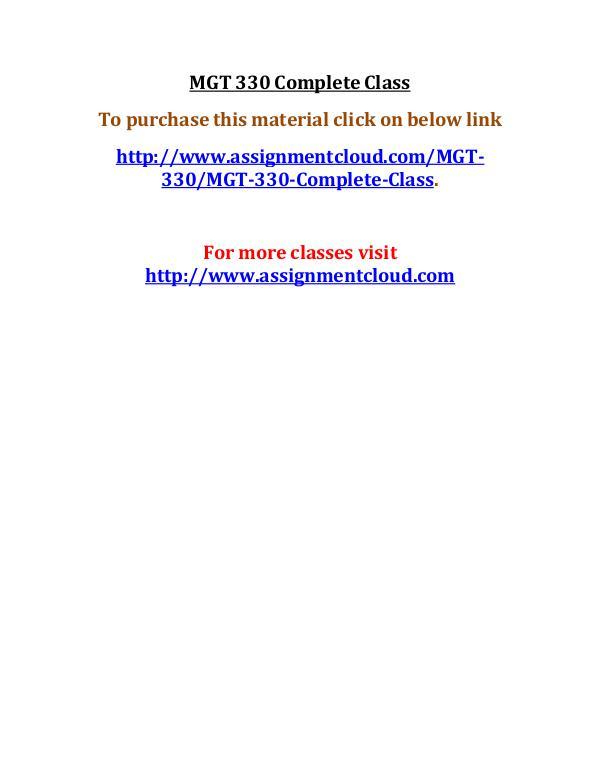uop mgt 330,uop mgt 330,uop mgt 330 complete course,uop mgt 330 entir MGT 330 Complete Class