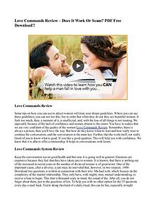 Scott Foster's Love Commands Review - Is It Scam Or Real?