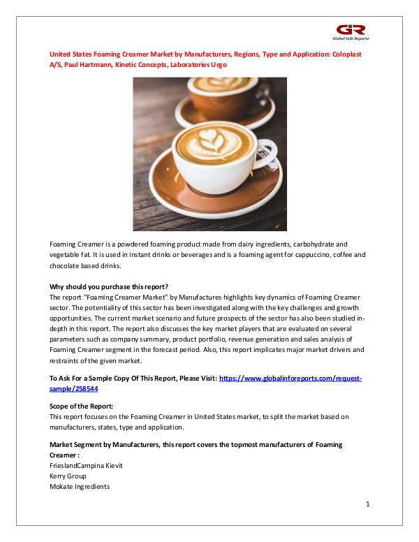 United States Foaming Creamer Market by Manufactur