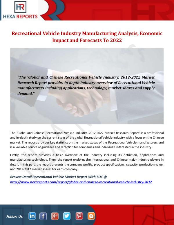 Recreational Vehicle Industry