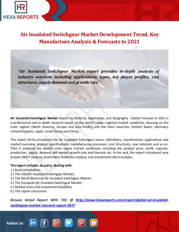 Hexa Reports Industry Air Insulated Switchgear Market