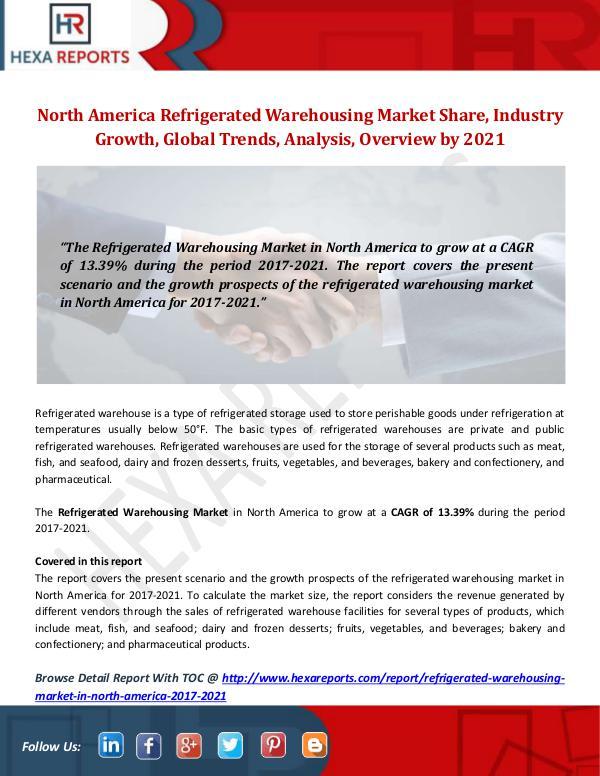 Hexa Reports Industry North America Refrigerated Warehousing Market