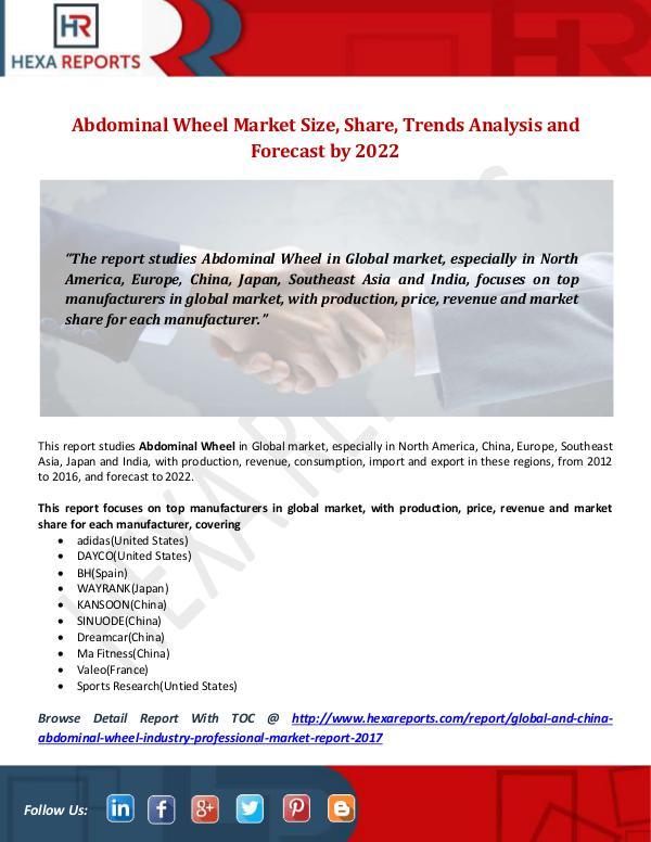 Hexa Reports Industry Abdominal Wheel Market
