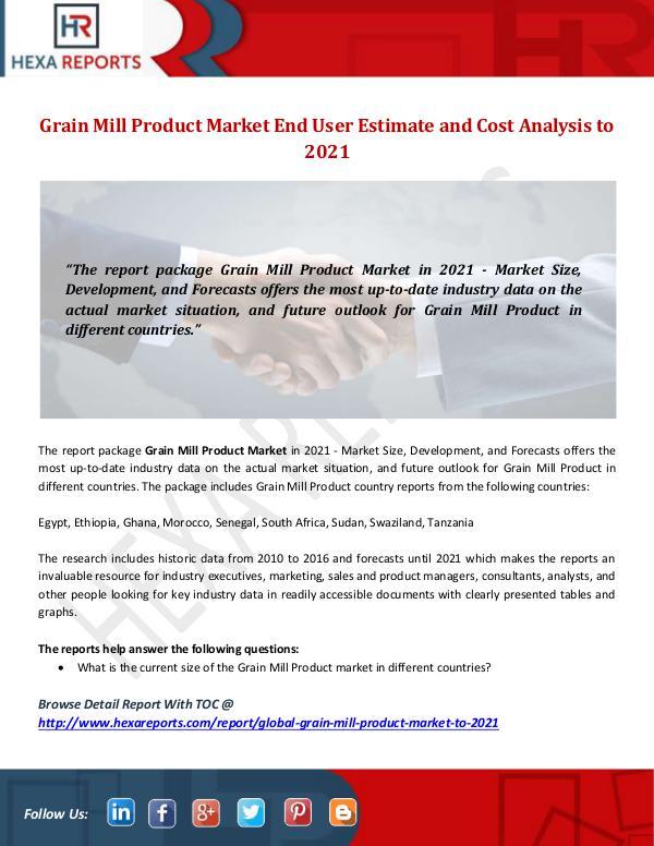 Grain Mill Product Market