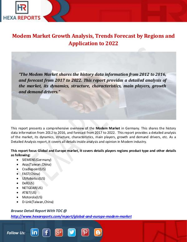 Hexa Reports Industry Modem Market