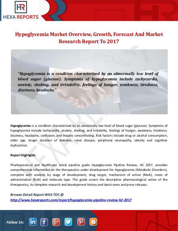 Hypoglycemia Market