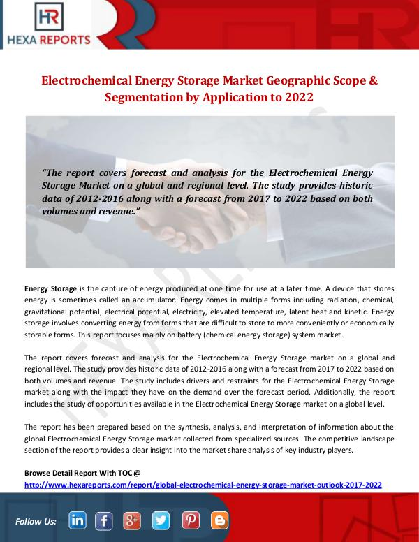 Electrochemical Energy Storage Market