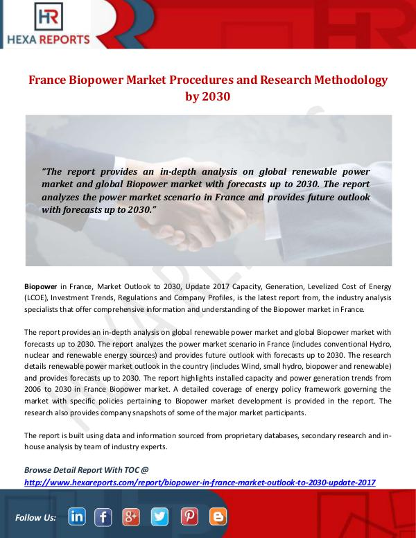 Hexa Reports Industry France Biopower Market