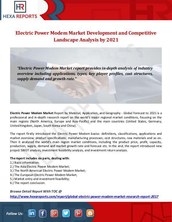 Hexa Reports Industry Electric Power Modem Market