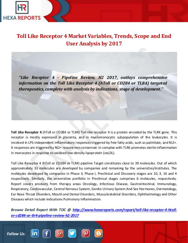 Toll Like Receptor 4 Market