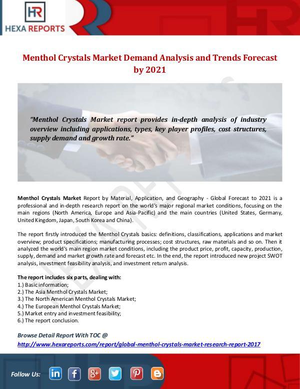 Menthol Crystals Market