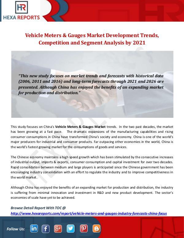 Vehicle Meters & Gauges Market