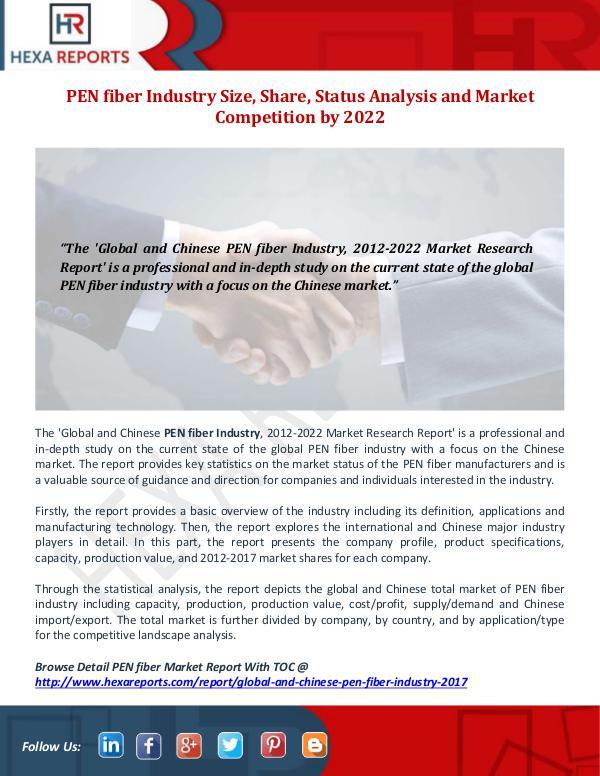 PEN fiber Industry