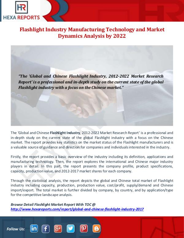 Hexa Reports Industry Flashlight Industry