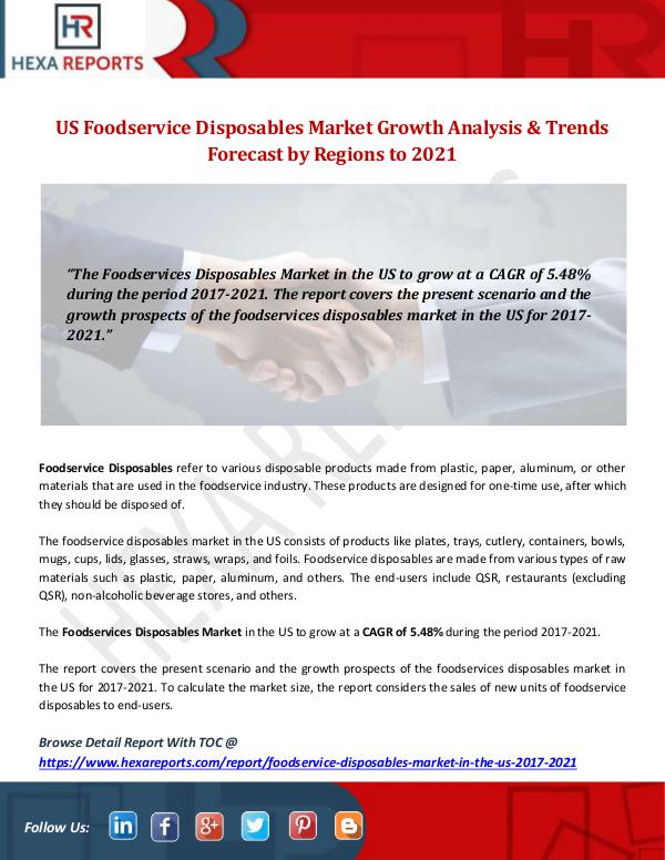 US Foodservice Disposables Market